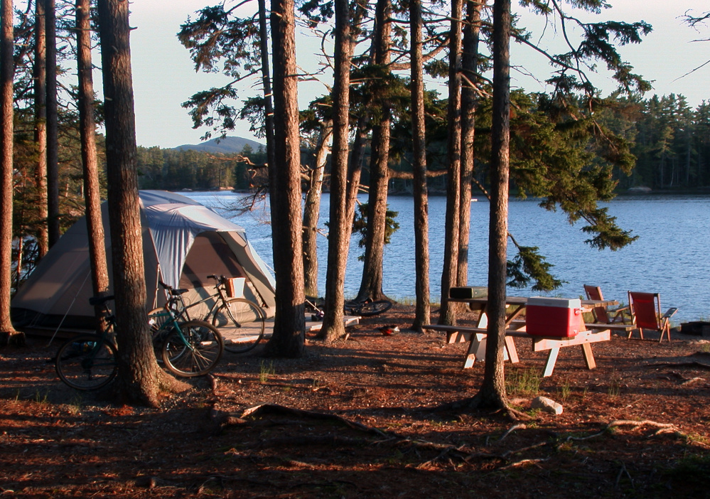 Camping on a Maine lake