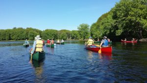 Maine river canoeing